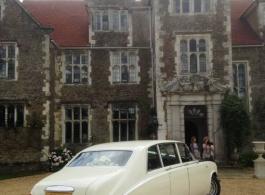 Classic White Daimler wedding car in Brentford